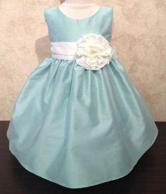 Sugar Plum Fairy Boutique - Sweet Kids Mint Flower Dress, $36.00 (http://www.sugarplumfairyboca.com/sweet-kids-mint-flower-dress/) #baby #girls #dress #mint #sweetkids
