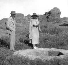 Agatha Christie and second husband Max Mallowan.Christie slowly rebuilt her life and in 1930 she visited Baghdad for a second time. It was here she met Max Mallowan. Max took Agatha on a tour of Baghdad and the desert - it was an action-packed journey - their car got stuck in the sand and they were rescued by the Desert Camel Corps!