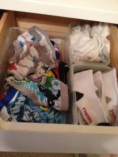 Using empty plastic diaper wipes containers to organize drawers  WifeyMommySuperHuman