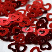 Red metallic heart table confetti Red Wedding, Wedding Day, Ruby Red Slippers, Hollow Heart, Table Confetti, All The Colors, Metallic, Hearts, Colour