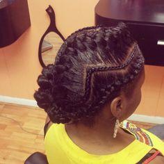 Zig Zag Braid Shared By Belinda - www. Zig Zag Braid Shared By Belind Indian Hairstyles, Girl Hairstyles, Braided Hairstyles, Goddess Hairstyles, Zig Zag Braid, Curly Hair Styles, Natural Hair Styles, Pelo Afro, Pelo Natural