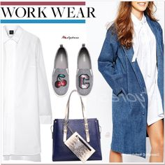 Denim coat by paculi on Polyvore featuring McQ by Alexander McQueen, H&M and nastydress