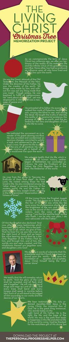 """The Living Christ"" Christmas Tree Memorization Project"