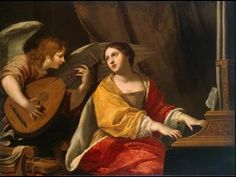 "Saint of the Day – November 22 – St Cecilia – Patron of Church music, great musicians, poets; Albi, France #pinterest St Cecilia was born in the 2nd century and died in the 3rd. It is written that as the musicians played at her wedding she ""sang in her heart to the Lord"". Her feast day is celebrated in the Latin Catholic, Eastern ................