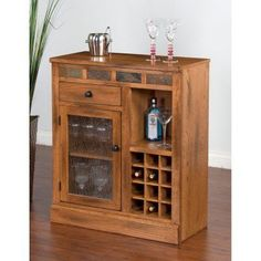 Sunny Designs Sedona Mini Wine Cabinet - 1918RO