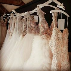 Big skirts in our gorgeous showroom RUTH MILLIAM BRIDAL COUTURE