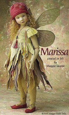 Marissa 16.5 Inch Tall Felt Doll Edition Size: 1 Created in 2004
