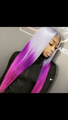 Online Shop Ombre hair color sew in human hair bundles and closure and frontal for brunettes colored hair for black off promotion factory cheap price,DHL worldwide shipping, store coupon available. Hair Color Shades, Ombre Hair Color, Purple Hair, Dope Hairstyles, My Hairstyle, Weave Hairstyles, Hairstyle Ideas, Lace Front Wigs, Lace Wigs