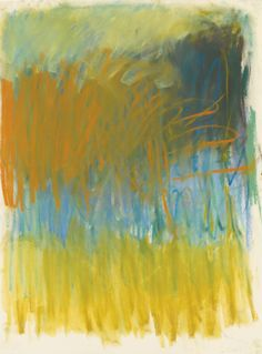 """thunderstruck9: """"Joan Mitchell (American, 1925-1992), Untitled, 1979. Pastel on paper, 31 x 22 1/2 in. """""""