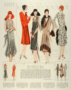 1928 McCall's Magazine Day wear…red certainly shows up as a popular colour for hats in the McCall's illustrations.