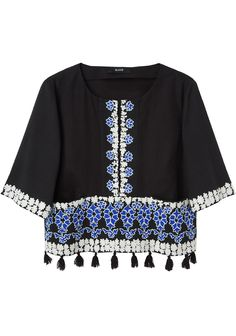 gorgeous embellished top from Suno