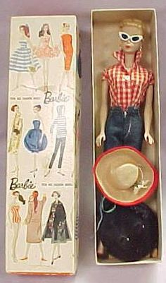 Barbie 1960s - had this Barbie outfit and the zipper really worked.