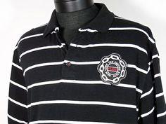 Fubu Polo Shirt Mens Size XL Black w/ White Stripes New York  #Shopping #Style #Fashion http://www.ebay.com/itm/-/271537101742?roken=cUgayN via @eBay