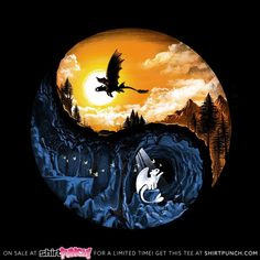 Qwertee : Limited Edition Cheap Daily T Shirts How To Train Dragon, How To Train Your, Cute Disney Drawings, Cute Drawings, Ying Y Yang, Toothless Dragon, Toothless Tattoo, Hiccup And Toothless, Httyd Dragons