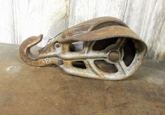 Heavy Duty Farm Pulley Steel Wood Pulley with Hook by birchleaves on Etsy