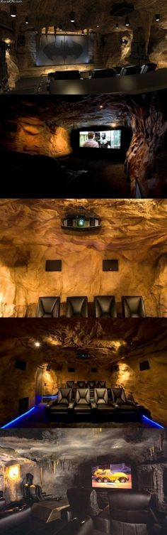 The true man cave. Dream Homes, My Dream Home, Gun Rooms, Big Screen Tv, Best Home Theater, Mancave Ideas, Woman Cave, Man Cave Garage, Cinema Room
