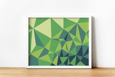 Green Shades Abstract Geometric Printable Wall Art, Digital print, over bed wall art, Geometrical Design Art, Living room Minimalist Poster Geometric Wall Art, Abstract Wall Art, Bed Wall, Minimalist Poster, Last Minute Gifts, Shades Of Green, Printing Services, Printable Wall Art, Wall Art Prints