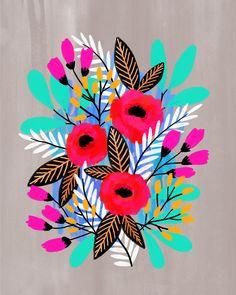 Arte Floral, Fabric Painting, Painting & Drawing, Phoenix Artwork, Painted Plant Pots, Scandinavian Folk Art, Art Diy, Floral Illustrations, Oeuvre D'art