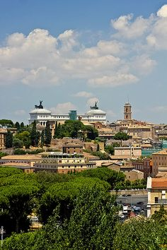 Stunning pic of Rome from a distance. What a glorious day in the Eternal City!
