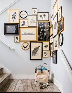 eadd02b9021 How to Create a Graphic Gallery Wall. Gold Frames ...