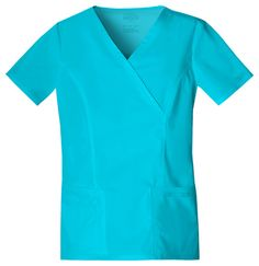 V-neck Scrub Mock Wrap Top Hunter Green. A Modern Classic fit mock wrap top features front princess seams and double needle top stitch detail. Back princess seams and side vents complete the picture. Maternity Scrubs, Core Stretches, Cherokee Woman, Cherokee Scrubs, Scrub Pants, Scrub Tops, V Neck Tops, Work Wear, Casual