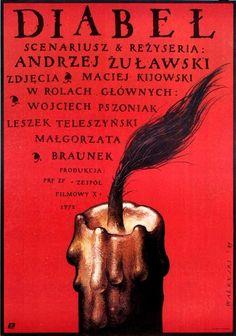 1987 Polish poster for THE DEVIL (Andrzej Zulawski, Poland, 1972)    Artist: Wieslaw Walkuski (b. 1956)
