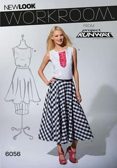 New Look sewing pattern 6056: Misses' Skirts & Top