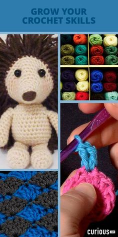 Grow Your Crochet Skills! Learn basic crochet techniques, common stitches, crochet in the round (and more!) with step-by-step video lessons. You'll have no shortage of skills to test out on new patterns!