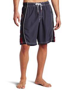 fcbf46b063 Speedo Men`s Tropical Wash Splice With Mesh Volley Water Short $32.80 Swim  Trunks,