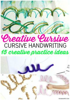 TEACH YOUR CHILD TO READ - Teach kids how to write in cursive handwriting with a Cursive handwriting Journal, using creative cursive practice ideas. Tips from an Occupational Therapist. - Super Effective Program Teaches Children Of All Ages To Read. Handwriting Classes, Cursive Handwriting Practice, Handwriting Activities, Improve Your Handwriting, Handwriting Analysis, Cursive Letters, Handwriting Ideas, Handwriting Worksheets, Alphabet Letters