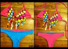 Bikini Deuce color fucsia/celeste. (parte de abajo reversible)  Mas info Deucestore@gmail.com