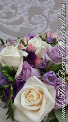 A few pics from Deirdre and George's beautiful Wedding in Slieverue, Co KK. Deirdres Bridal Bouquet was a mix of Purple, Pink and I. Church Wedding, Purple, Pink, Wedding Flowers, Bouquet, Bridal, Rose, Beautiful, Bouquet Of Flowers