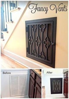 handmade home decor adding character with decorative vent covers, home decor, home improvement, hvac, kitchen design Easy Home Decor, Handmade Home Decor, Cheap Home Decor, Home Renovation, Home Remodeling, Remodeling Contractors, Kitchen Contractors, Building Contractors, Kitchen Renovations