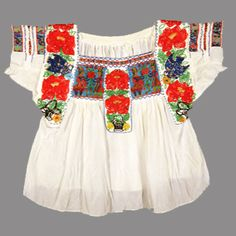 Oaxaca's Textile Museum  Beaded blouse from Chilac, Puebla China Poblana style