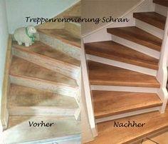 Treppenrenovierung mit Laminatstufen, Stufendekor Eiche Vintage
