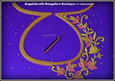 Hand Embroidery- Blouse neck designs by Angalakruthi in Bangalore_Boutique