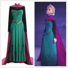 Disney Cosplay Disney Movie Frozen Elsa Coronation Dress Costumes - shop custom made Disney Movie Frozen Elsa Dress Costume to fit you more than well. Princess Elsa Dress, Frozen Elsa Dress, Disney Princess Dresses, Disney Dresses, Girls Dresses, Disney Cosplay, Elsa Cosplay, Disney Costumes, Frozen Cosplay