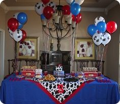 Cute Cowboy themed bday party @Valerie Bailey DeBenedetti