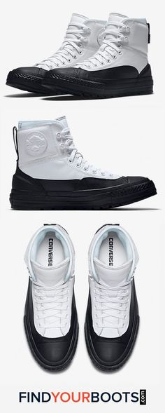 Puddle Warrior: 6 Stylish Rain Boots for Men — FindYourBoots Converse Boots, Mens Vans Shoes, Converse Men, Stylish Rain Boots, Mens Rain Boots, Chuck Taylor Boots, Chuck Taylor Sneakers, Rainy Shoes, Chuck Taylors