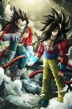 Super Saiyan 4 Goku and Vegeta, who is hotter, hmmm?( vegeta: left Goku: Right) Dragon Ball Gt, Blue Dragon, Dragon 2, Super Saiyan 4 Goku, Fanart Manga, Manga Anime, Anime Boys, Bd Comics, Anime Comics