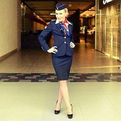 """Очередной дружеский пост.  @irinachokolatte. Airline: #Belavia, #Belarus.  #белавия #topstewardess #стюардесса #flightattendant #stewardess #airplane #cabincrew #crewlife #flightcrew #steward #airhostess"" Photo taken by @topstewardess on Instagram, pinned via the InstaPin iOS App! http://www.instapinapp.com (04/14/2015)"
