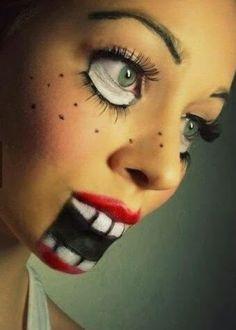 Creepy Halloween Makeup Looks | #makeup #costume #ideas #paulmitchell #pmtslouisville #halloween #eyes #mouth #lips http://nutbutterluver.blogspot.com/2013/10/diy-creepy-halloween-makeup-looks.html