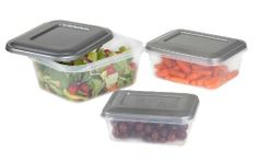 Food Storage Containers with Lid-3 Piece Set/ Lid May Vary by Kennedy Home Collections by Hold N Storage. $12.35. Containers with Lids for Food Storage 100% Polypropylene plastic Dishwasher safe/Microwave safe Large container: 50 oz./6.3 cup Medium container: 34 oz. /4.25 cup Small container: 21 oz. /2.6 cup Lid may vary between grey of white Freezer safe