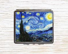 Van Gogh The Starry Night Painting Cigarette Case - Metal Cigarette Case…
