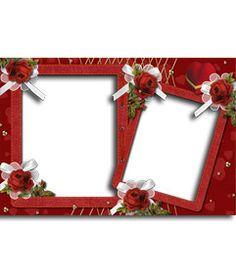 Marco para fotos con rosas. Realiza este fotomontaje gratis y fácilmente. Puedes mandarlo como tarjeta de San Valentín personalizada, por email. http://www.fotoefectos.com