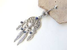 Hey, I found this really awesome Etsy listing at https://www.etsy.com/au/listing/225378858/lapis-luzuli-dream-catcher-belly-ring