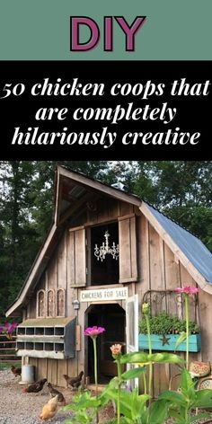 Sure, you could put chickens in a standard looking coop. They probably won't mind. But why would you? There are a lot of creative and downright hilarious ideas out there. #50 #chicken #coops #hilariously