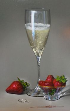 Javier Mulio. Champagne with Strawberries II