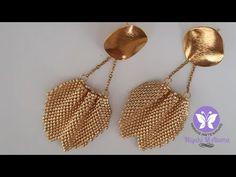 Beading Techniques, Beading Tutorials, Beading Patterns, Tiny Stud Earrings, Bead Earrings, Bead Jewellery, Beaded Jewelry, Beaded Chocker, Foot Bracelet