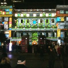At the Vivid light show exhibition at Circular Quay Sydney. Lights projected onto building with sound effects too Light Project, Most Beautiful Cities, Sound Effects, Lights, Spaces, Building, Buildings, Light Fixtures